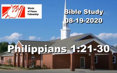 Philippians 1:21-30  Bible Study | WOP Church Online